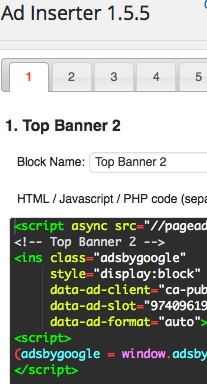Banner code into WordPress