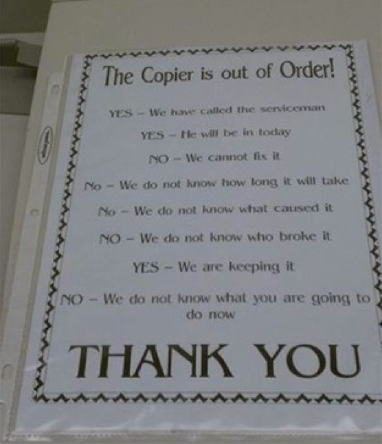 Web Design out of order signs free