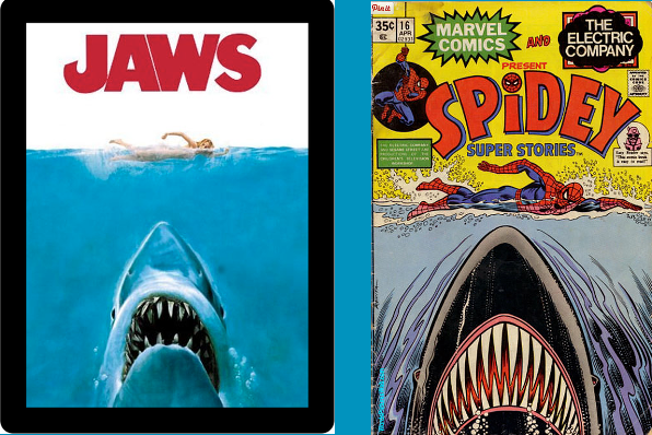 Jaws movie poster and Spiderman parody -- Best Images