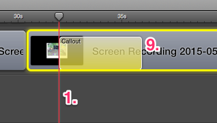 Yellow callout screenflow