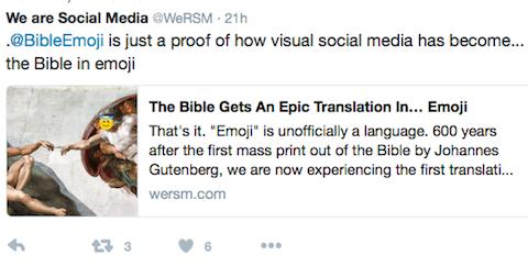 Bible emoji tweet