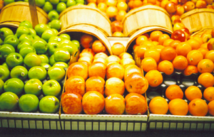 Fruit on Grocery Shelves