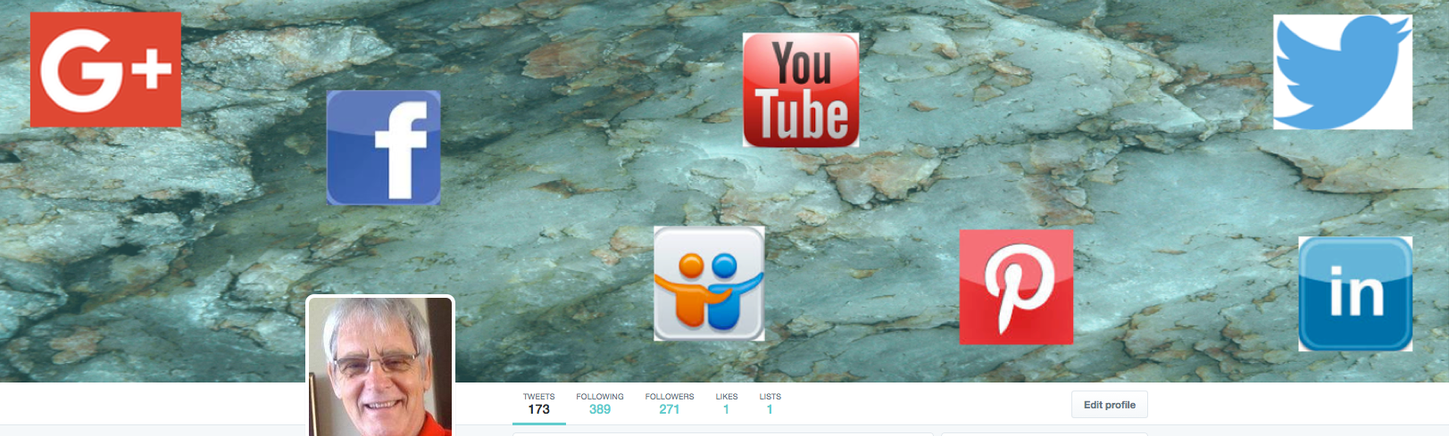social media sites Twitter header & profile picture
