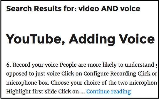 video and voice