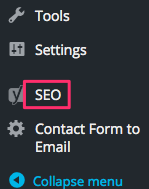 SEO in black column