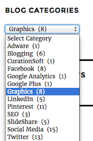 blog categories graphics