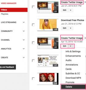 Upload Video Delete duplicate video