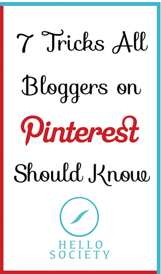 Tricks Bloggers Pinterest