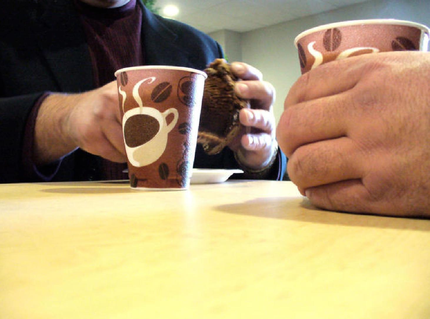 2 people having coffee