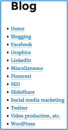 Blog categories 2