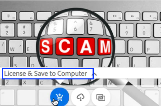 License and Save to Computer