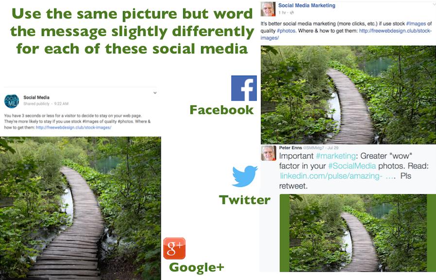 Same picture 3 social media