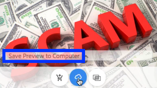 Save scam preview to hard drive