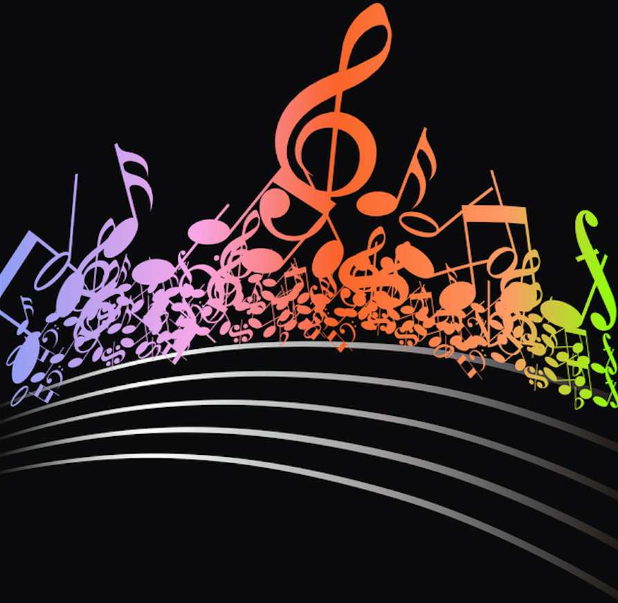 Colorful musical design