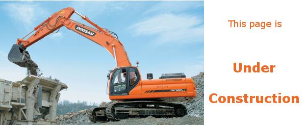 Excavator page under construction