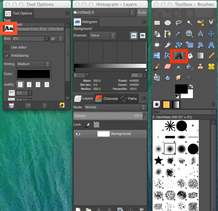 GIMP fonts