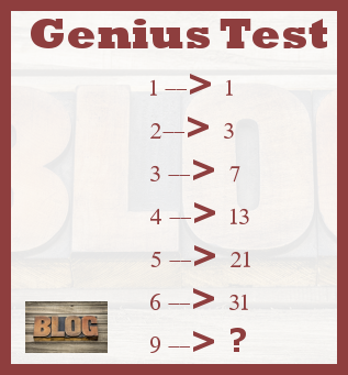 Maths puzzles Genius test