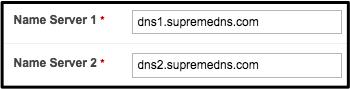 Name server 1 and 2
