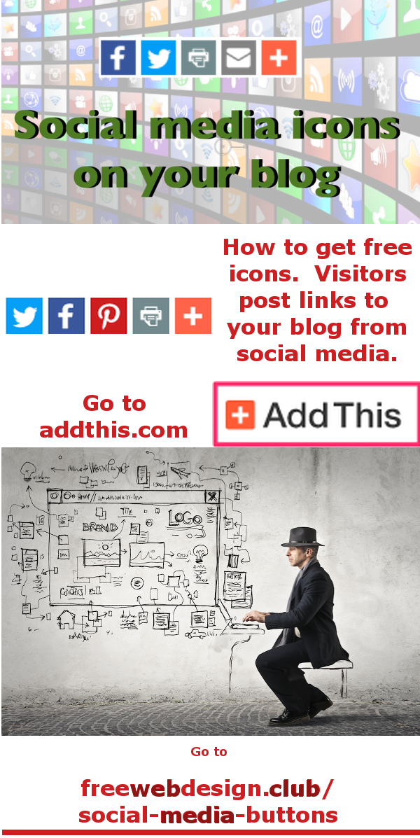 Social Media Icons Pinterest