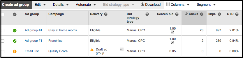 bing ppc-ad-campaign-table