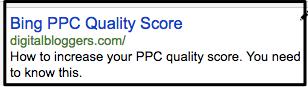 bing ppc-quality-score-ad
