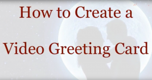 video greeting card title page