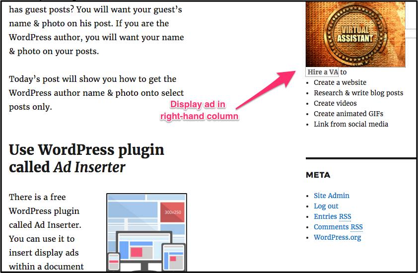 WordPress ad