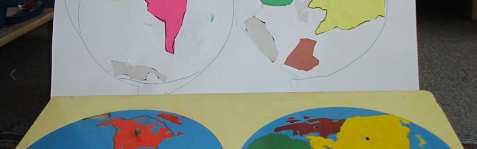 Pasting of world map
